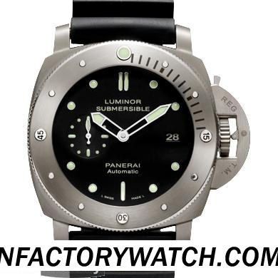一比一 Panerai 沛纳海 LUMINOR SUBMERSIBLE 1950 3 DAYS AUTOMATIC TITANIO Pam00305/Pam305 - Noob完美版