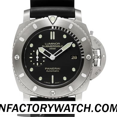一比一 Panerai 沛纳海 LUMINOR SUBMERSIBLE 1950 2500M 3 DAYS AUTOMATIC TITANIO Pam00364/Pam364 - Noob完美版