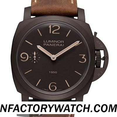 一比一 Panerai 沛纳海 Luminor Composite 1950 3 Days Pam00375 Pam375 钛壳 - Noob完美版